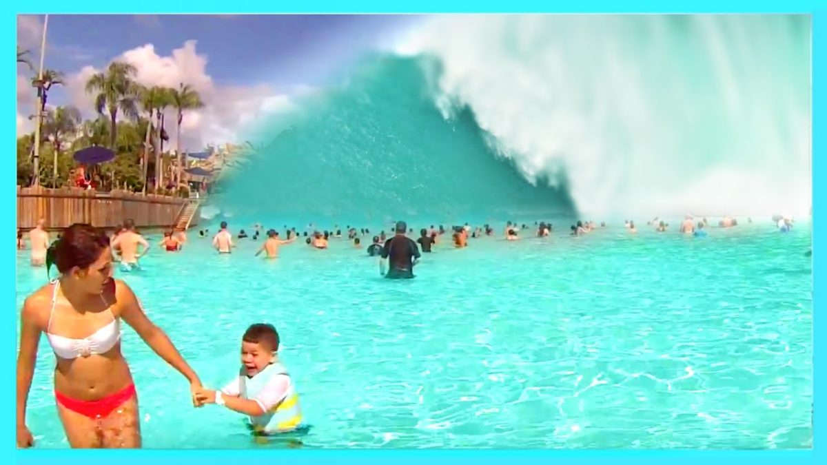 6 Wave Pools + Flow Rider Machines & Fall INTO POOL?! FUN Video